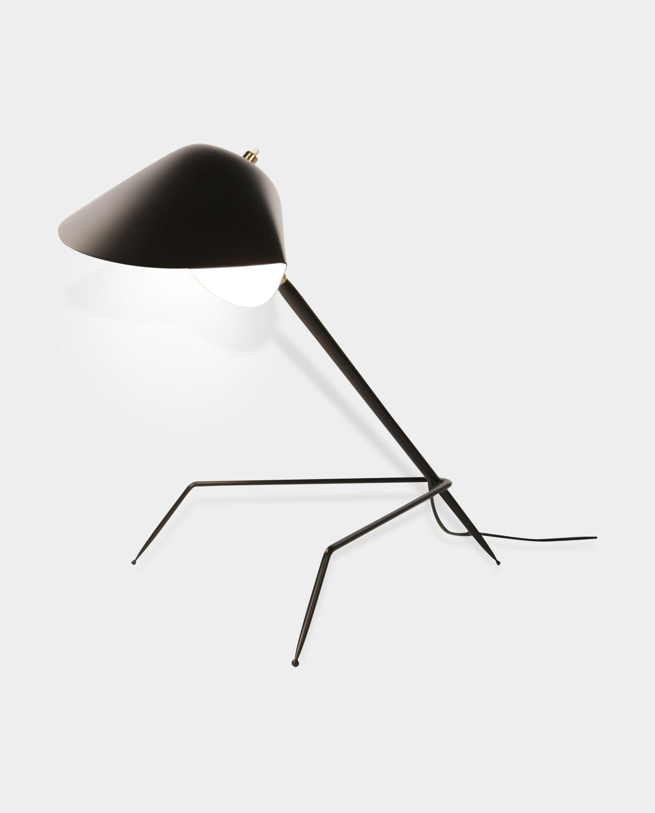 lampe de bureau tripode luminaires serge mouille e boutique officielle. Black Bedroom Furniture Sets. Home Design Ideas
