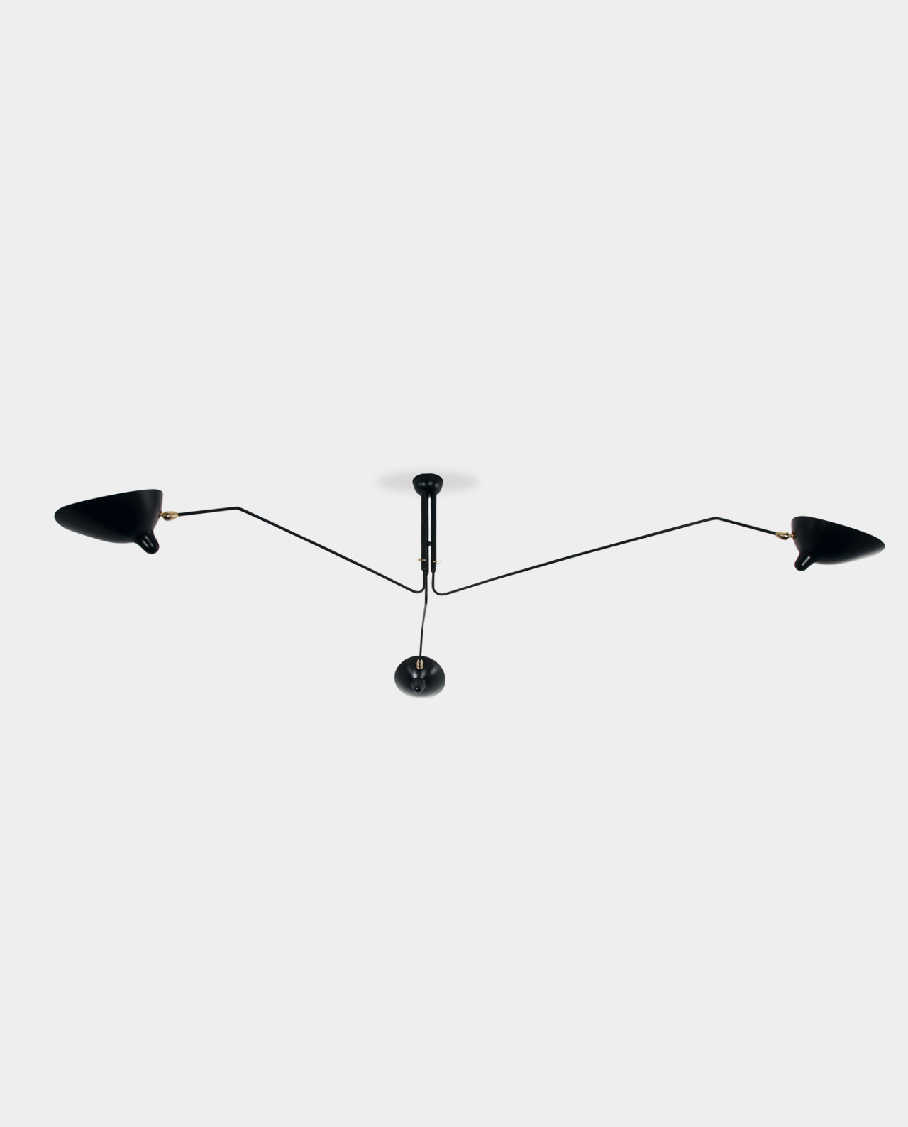 Ref p3b ceiling lamp 3 rotating arms serge mouille 1958